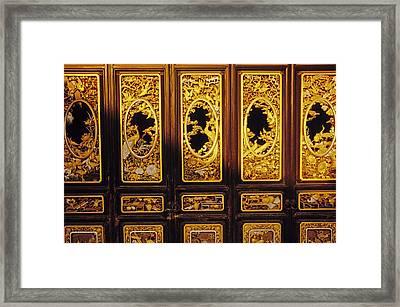 Qing Dynasty Doors Framed Print by Dennis Cox & Qing Dynasty Doors Photograph by Dennis Cox pezcame.com