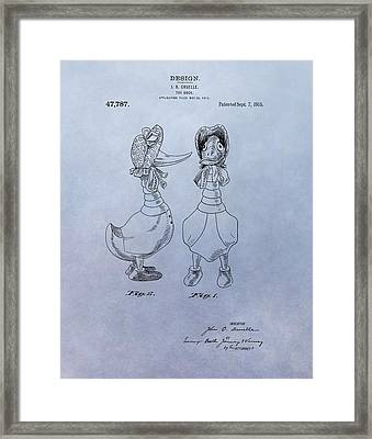 Quacky Doodles Patent Framed Print by Dan Sproul
