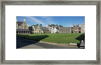 Quad At Christs College, Christchurch Framed Print
