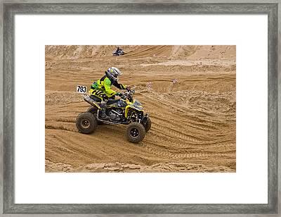 Quad Bike Racer Framed Print