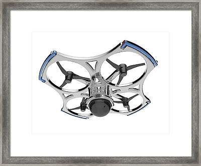 Quadcopter Air Drone With Camera Framed Print by Alfred Pasieka