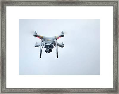 Quadcopter Drone With Camera Framed Print