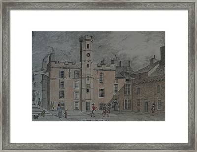 Quadrangle Edinburgh Castle Framed Print