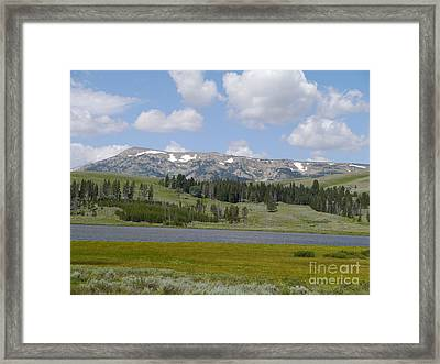 Quadrant Mountain - Gallatin Range Framed Print by Christiane Schulze Art And Photography