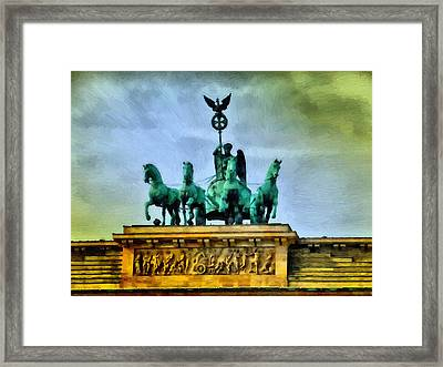 Quadriga On Brandenburg Gate Framed Print by Ralph van Och
