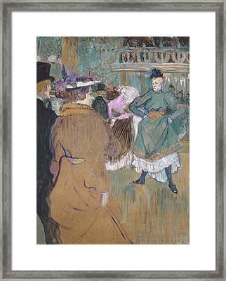 Quadrille At The Moulin Rouge, 1892 Framed Print by Henri de Toulouse-Lautrec