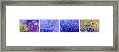 Framed Print featuring the photograph Quadryptich Of Colorful Water Bubbles by Peter v Quenter