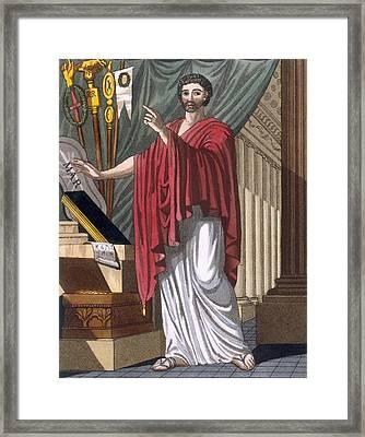 Quaestor, Illustration From Lantique Framed Print by Jacques Grasset de Saint-Sauveur