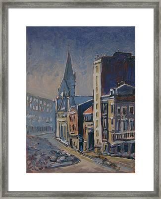 Quai-sur-meuse Liege Framed Print