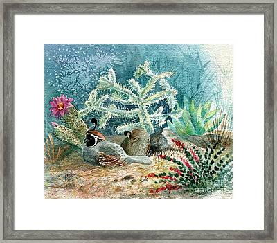 Quail At Rest Framed Print