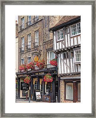 Quaint Cambridge Pub Framed Print by Gill Billington