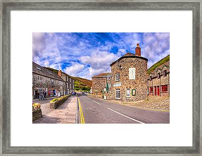 Quaint Cornwall In The Little Village Of Boscastle Framed Print by Mark E Tisdale