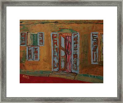 Quaint Home Framed Print by Oscar Penalber