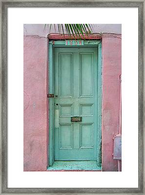 Quaint Little Door In The Quarter Framed Print by Brenda Bryant