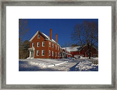 Quaint Maine Winter Farm Framed Print by Catherine Melvin