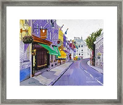 Quaint Quebec City By Stan Bialick Framed Print