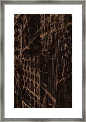 Framed Print featuring the digital art Quake - Ground Zero by GJ Blackman