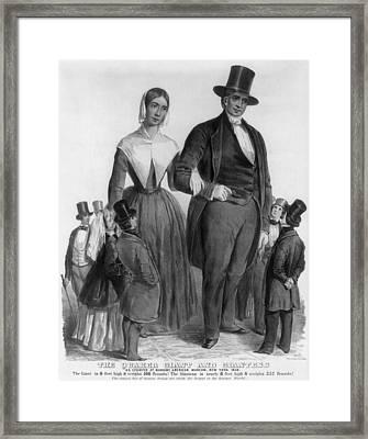 Quaker Giants, 1849 Framed Print by Granger