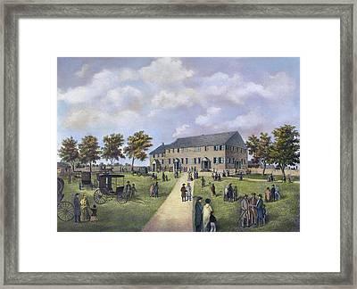 Quaker Meeting House, 1857 Framed Print