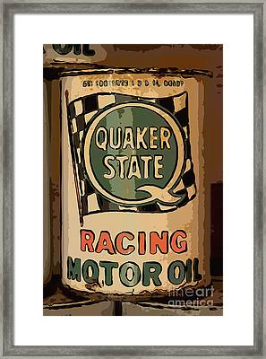 Quaker State Oil Can Framed Print