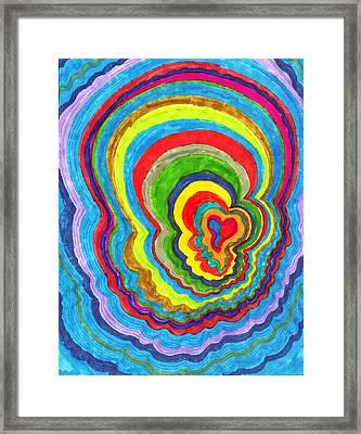 Quakey Breakie Heart Framed Print by Brenda Adams