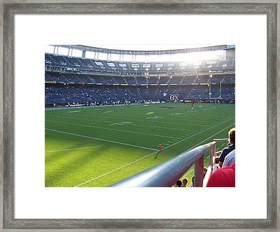 Qualcomm Stadium Framed Print by Georgia Fowler