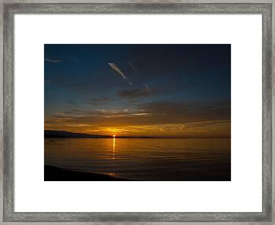 Qualicum Sunset II Framed Print by Randy Hall
