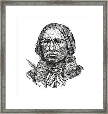 Quanah Parker Framed Print by Clayton Cannaday