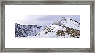 Quandary Peak Panorama Framed Print