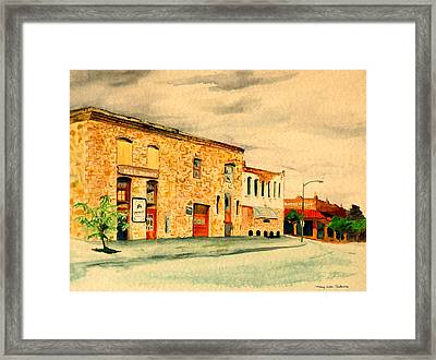 Framed Print featuring the painting Quantrill's Flea Market - Lawrence Kansas by Mary Ellen Anderson