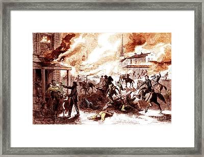 Quantrills Raid, Lawrence Massacre, 1863 Framed Print by Photo Researchers