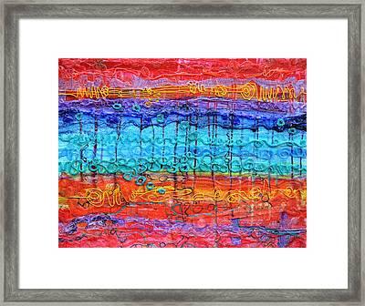 Quantum Cascade Framed Print by Regina Valluzzi