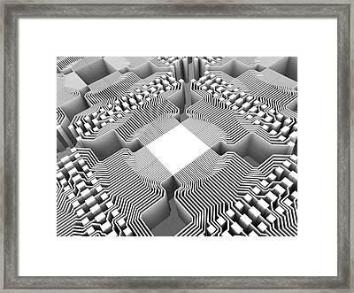 Quantum Compute Framed Print