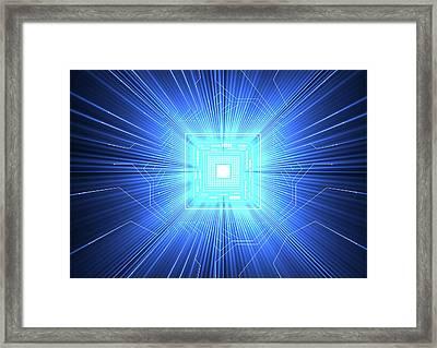 Quantum Computer Framed Print