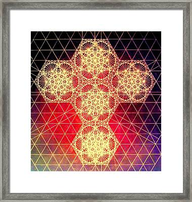 Quantum Cross Hand Drawn Framed Print by Jason Padgett