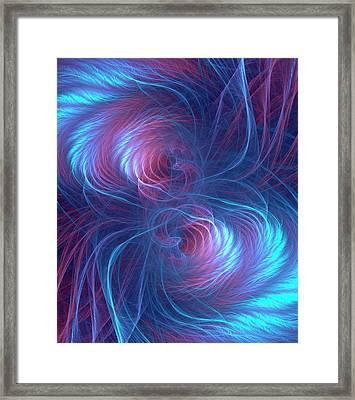 Quantum Entanglement Conceptual Image Framed Print