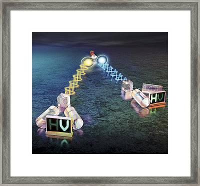 Quantum Entanglement Experiment Framed Print