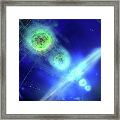 Quantum Entanglement Framed Print by Harald Ritsch