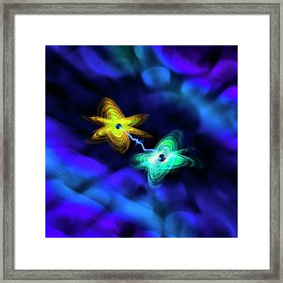 Quantum Entanglement Framed Print by Richard Kail