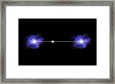 Quantum Entanglement Framed Print by Victor De Schwanberg