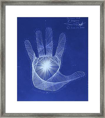 Quantum Hand Through My Eyes Framed Print