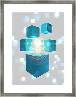 Quantum Mechanics Framed Print by Victor Habbick Visions