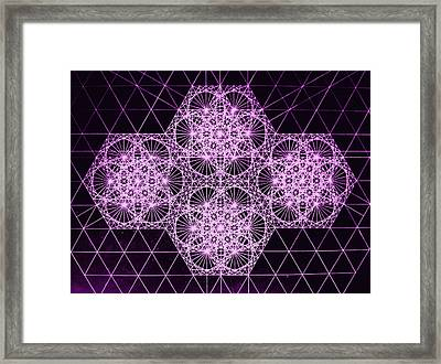 Framed Print featuring the drawing Quantum Snowfall by Jason Padgett