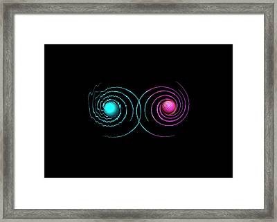 Quantum Spin And Entanglement Framed Print by Richard Kail