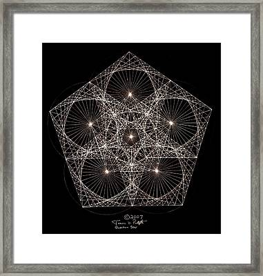 Framed Print featuring the drawing Quantum Star II by Jason Padgett