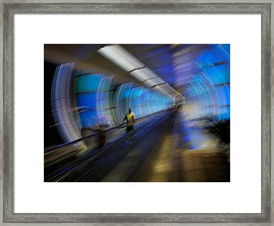Framed Print featuring the photograph Quantum Tunneling by Alex Lapidus