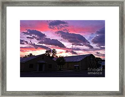 Quapaw Ok Tornado Survivor Iphone Shot Framed Print