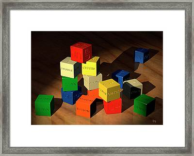 Quarks Concept Framed Print by Mark Garlick/science Photo Library