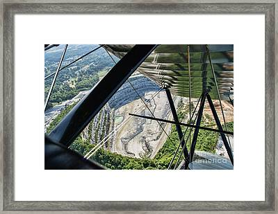 Quarry From The Air Framed Print