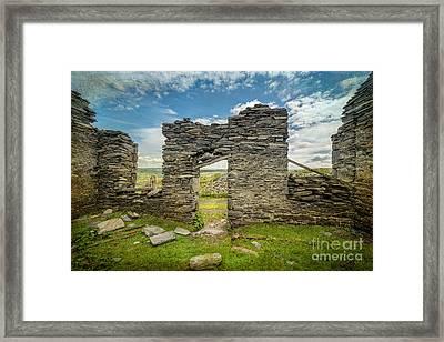 Quarry Ruin Framed Print by Adrian Evans
